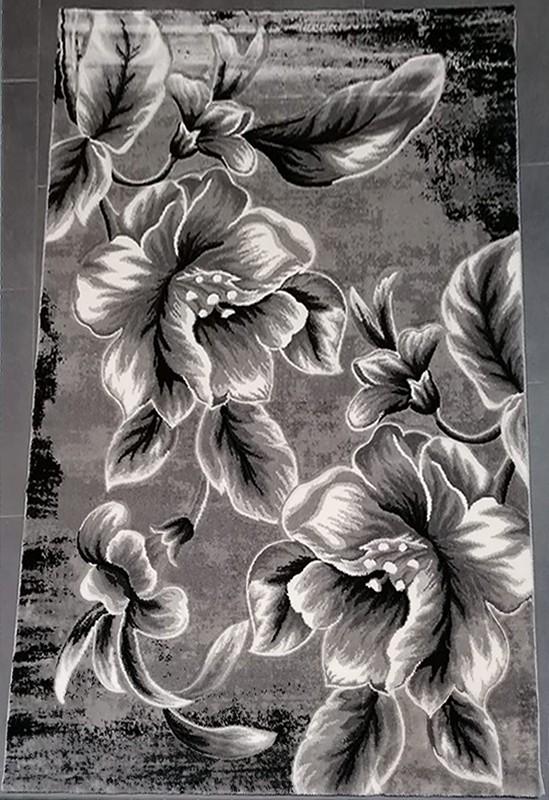 Covor-Imperial-cu-motiv-Floral-Gri